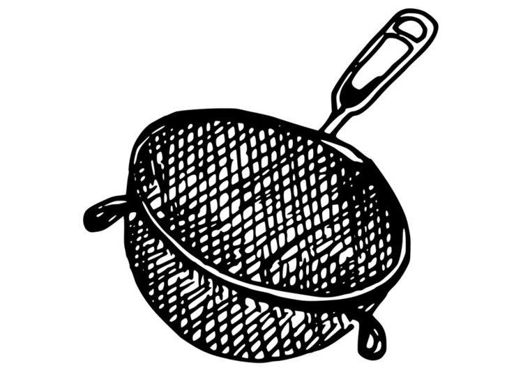 Coloring page strainer