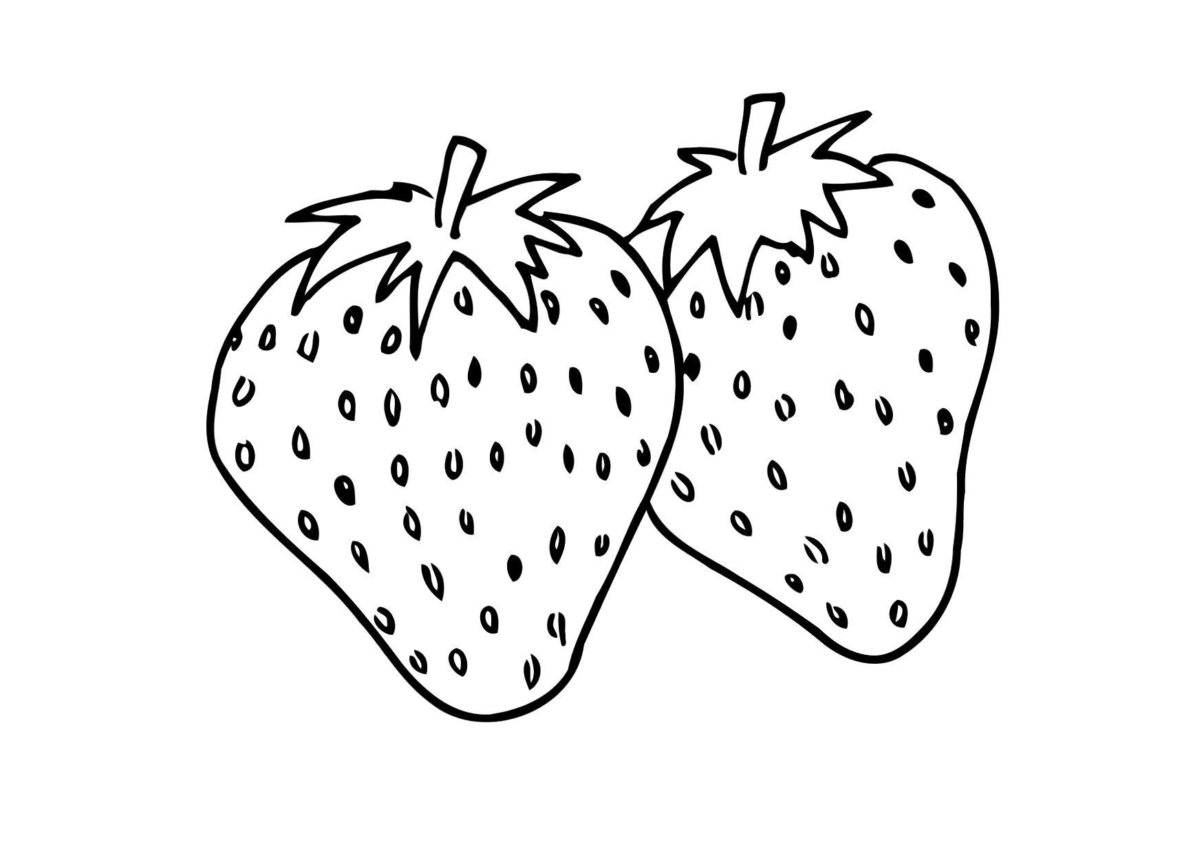 Coloring page strawberry img 12302 images