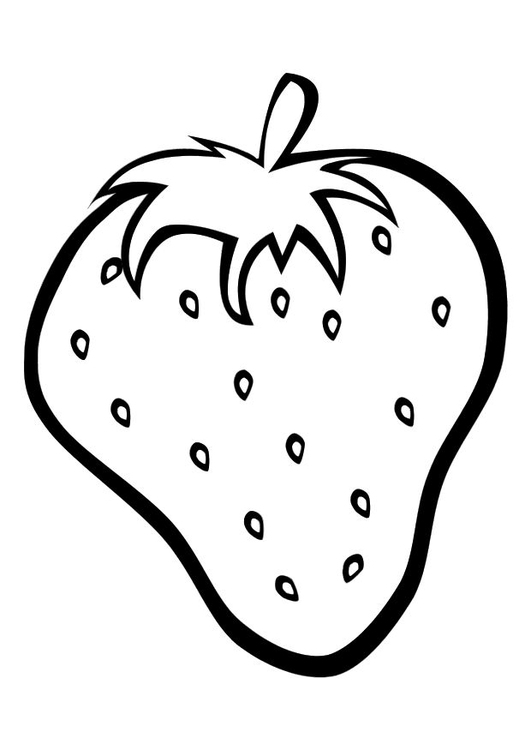 Coloring page strawberry - img 10326.