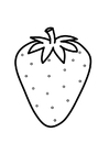 Coloring page strawberry