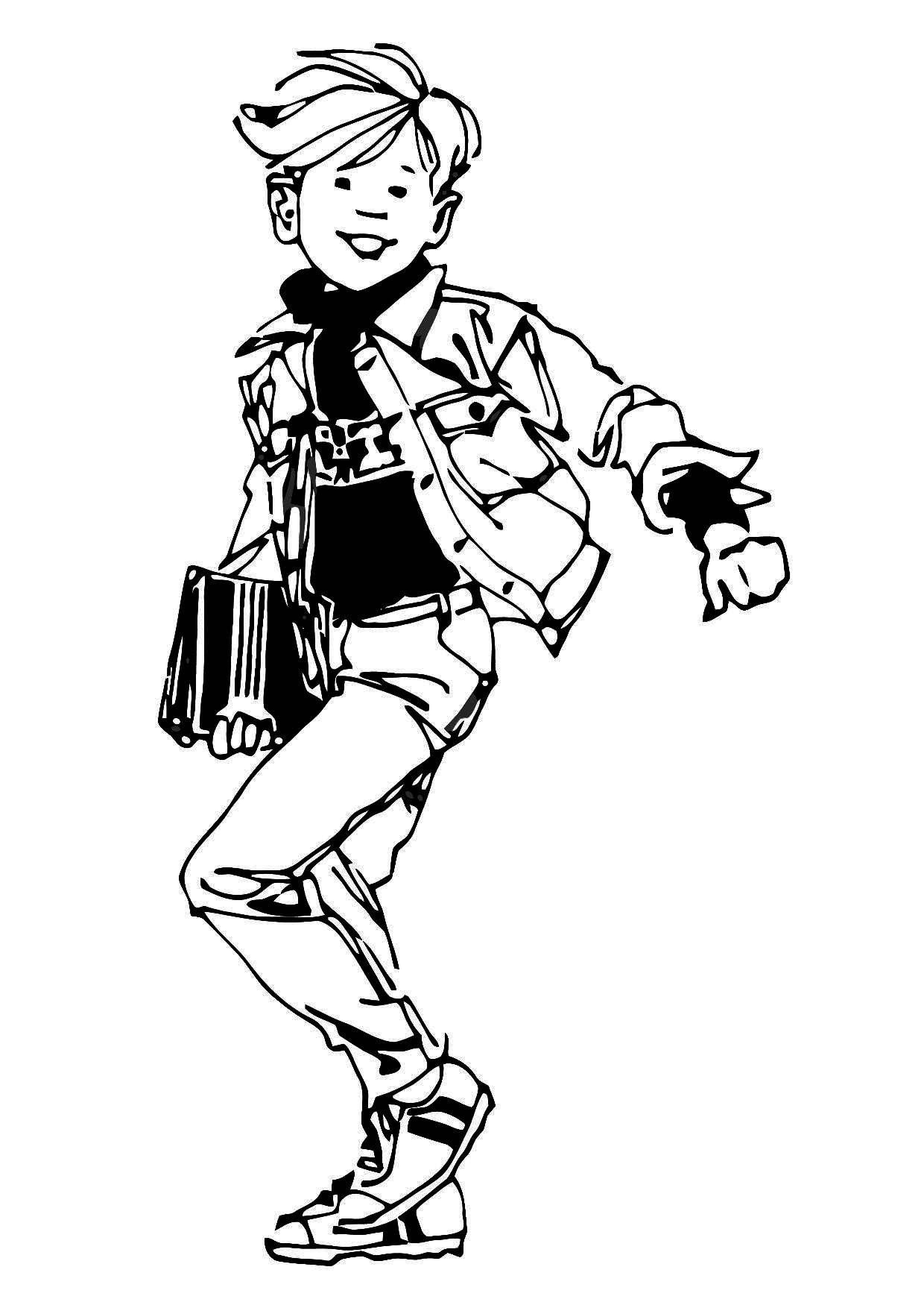 Coloring page student - img 11436.
