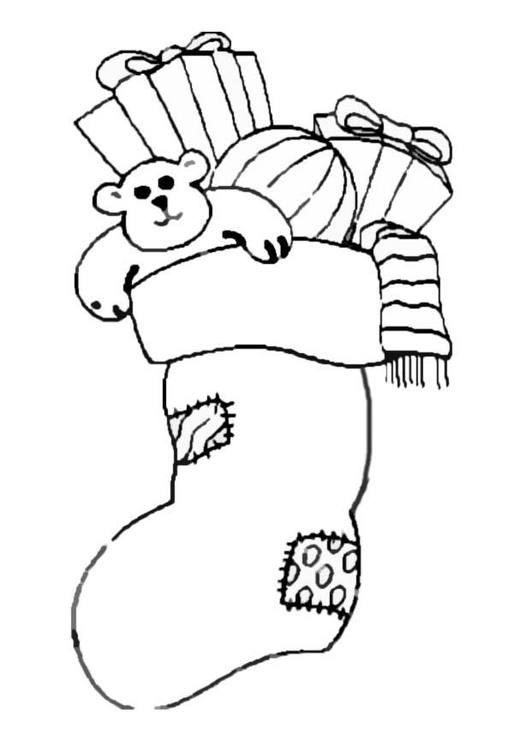 Coloring page Stuffed Stocking