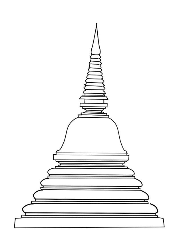 Coloring page stupa img 25619 Images