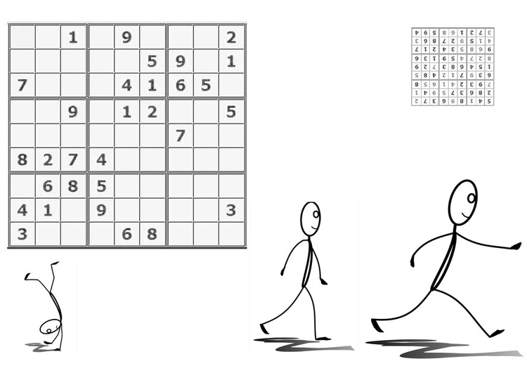 Coloring page sudoku - to sport