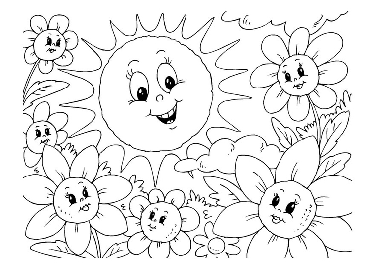 Coloring page summer