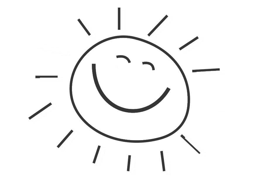 Coloring page sun - img 28471.