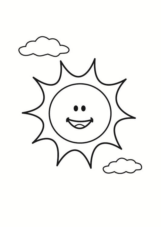 Coloring page sun - img 23356.