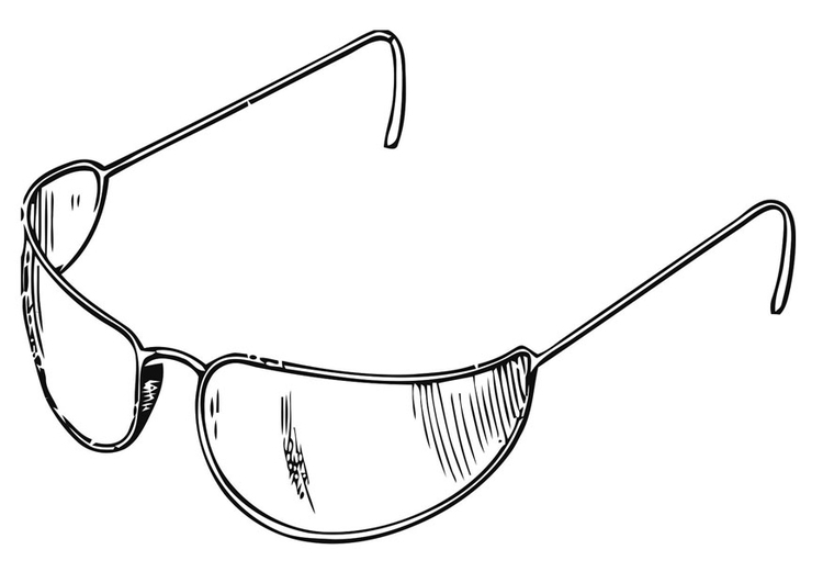 Coloring page sunglasses