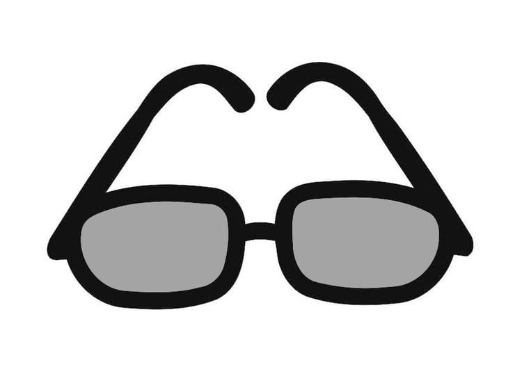 Картинка очки раскраска для детей