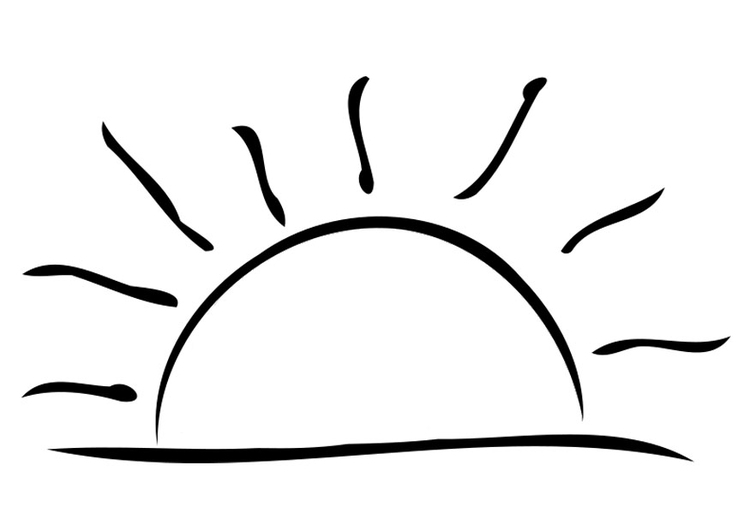 Coloring page sunset