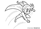 Coloring page super heroine