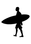Coloring pages surfer