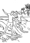 Coloring pages surfing