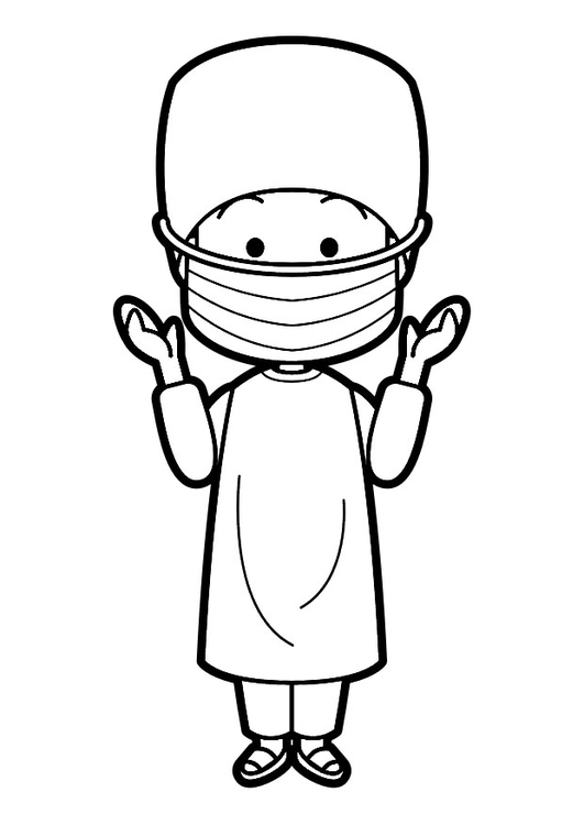 Coloring page surgeon