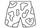 Coloring pages swim trunks