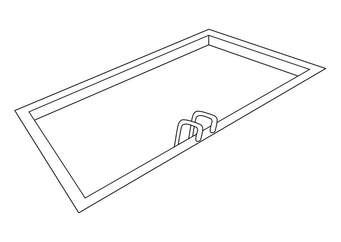 Coloring page swimming pool