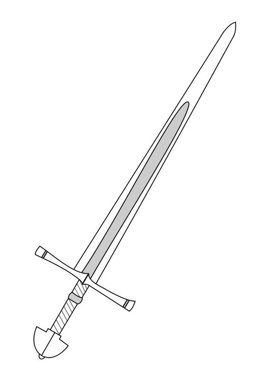 Coloring page sword img 27284 for Coloring pages sword