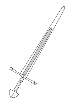 Coloring page sword