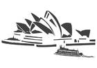 Coloring pages Sydney Opera House