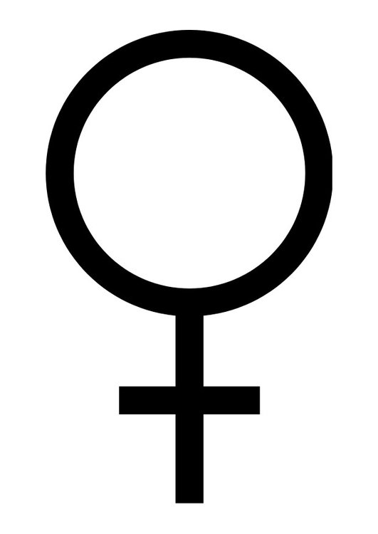 Coloring page symbol female