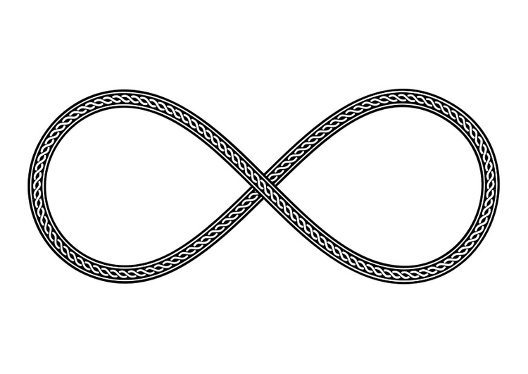 Coloring page symbol - infinity