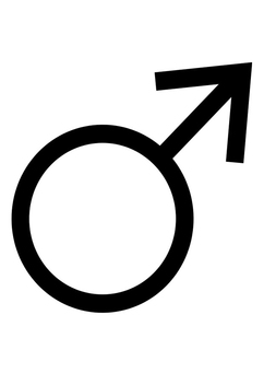 Coloring page symbol male