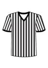 Coloring page t-shirt referee