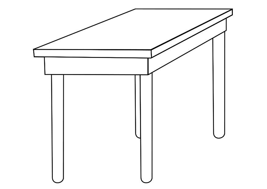 Coloring page table - img 19258. Images