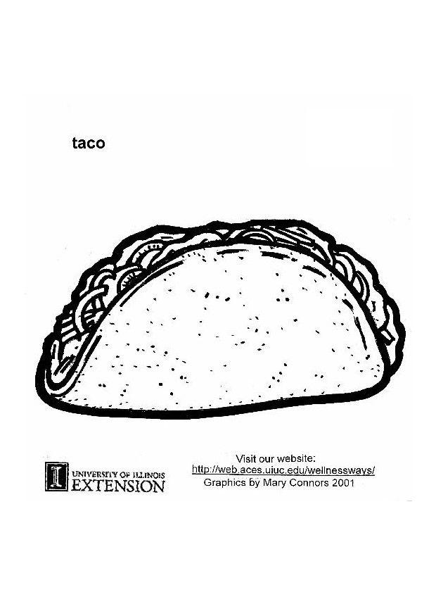 coloring page taco img 5903 Food Coloring Pages  Coloring Pages Tacos