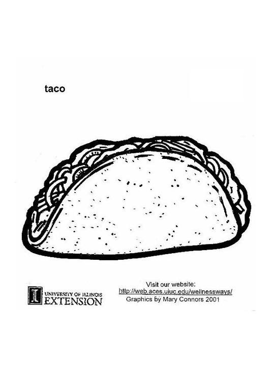 Coloring page taco