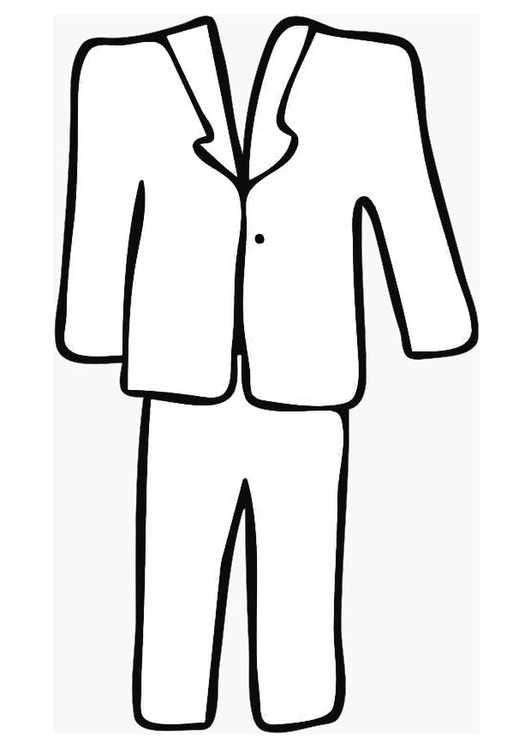 Coloring page tailor-made suit