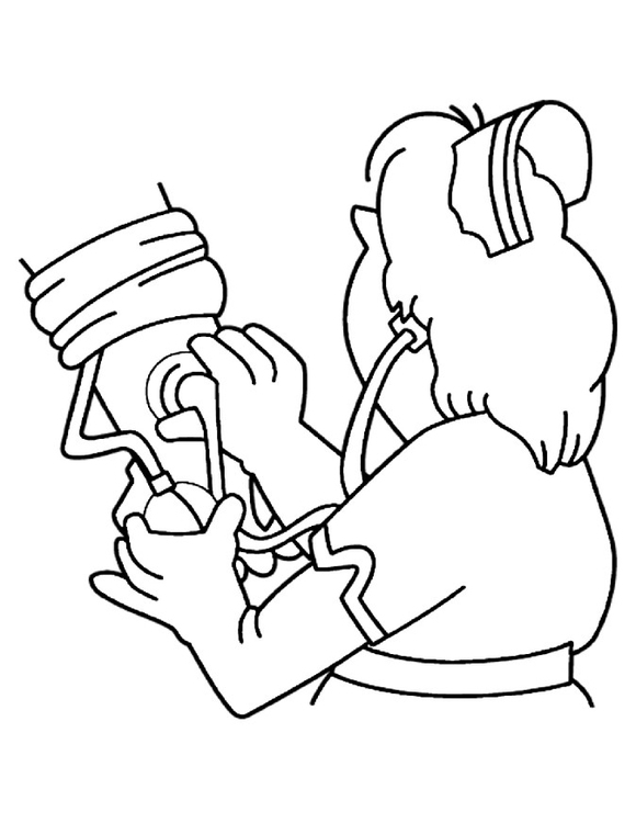 Coloring page take blood pressure