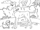 Coloring pages tall dog and small dog