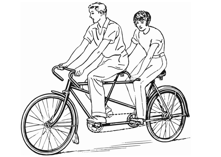 Coloring page Tandem