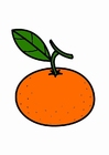 Coloring pages tangerine