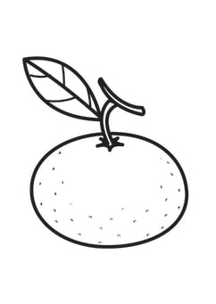 Coloring page tangerine