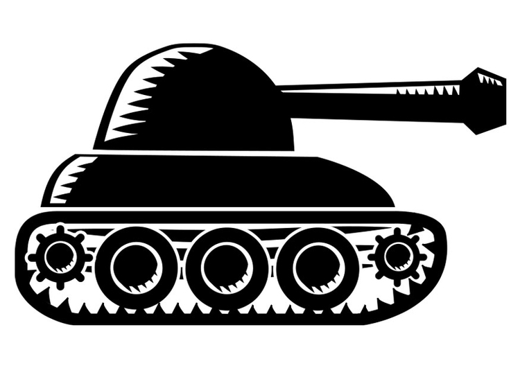 Coloring page tank