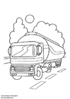 Coloring page tank lorry
