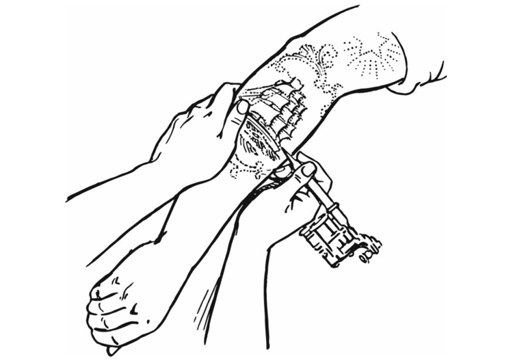 Tattoo Coloring Pages Printable - Coloring Home | 531x750