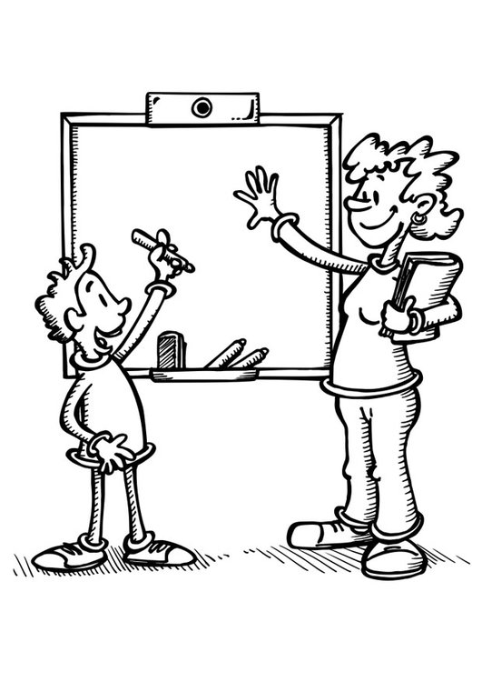 Coloring Page Teacher And Student Free Printable Coloring Pages