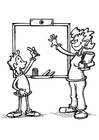 Coloring pages teacher and student