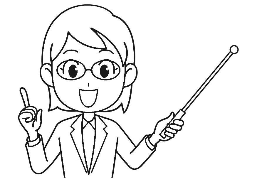 Coloring page teacher - img 30220.
