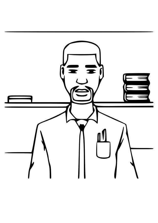 Coloring page teacher - img 30429.