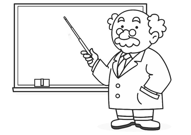 Coloring page teacher - img 30237.