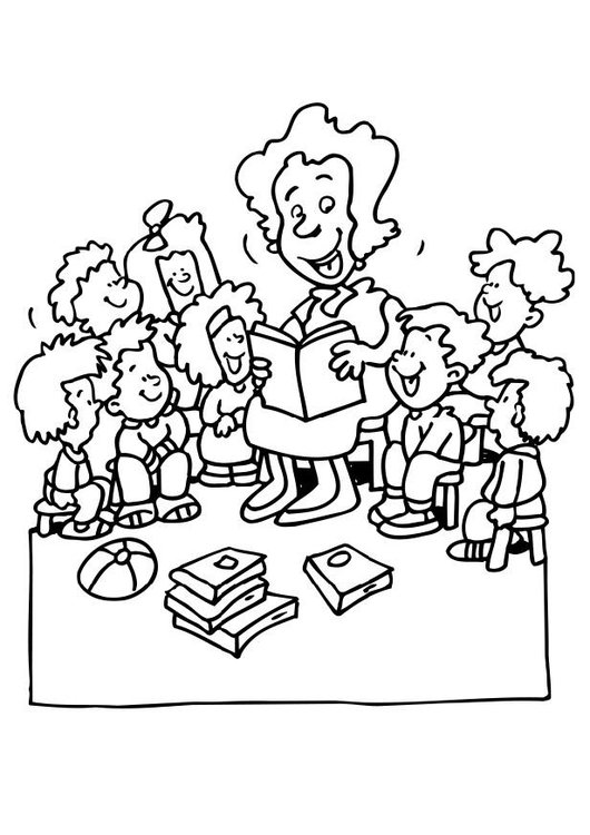 Coloring page teacher