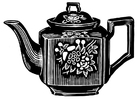 Coloring pages teapot