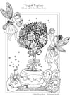 Coloring page teapot topiary