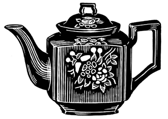Coloring page teapot