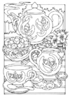 Coloring pages teatime