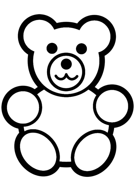Coloring page teddy bear - img 20000.